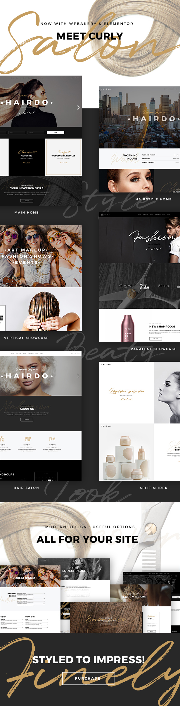 Curly - A Stylish Theme for Hairdressers and Hair Salons - 1