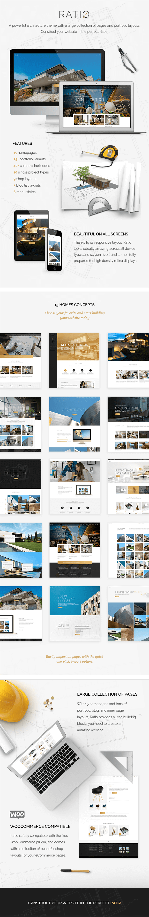 Ratio - A Powerful Interior Design and Architecture Theme - 1