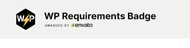 WordPress Requirements Badge