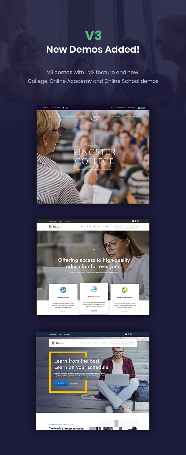 Kingster - Education WordPress For University, College and School - 1