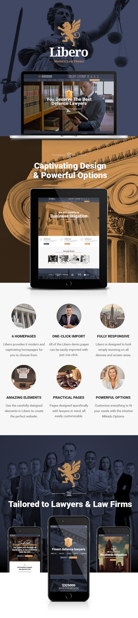Libero -  Lawyer and Law Firm Theme - 1
