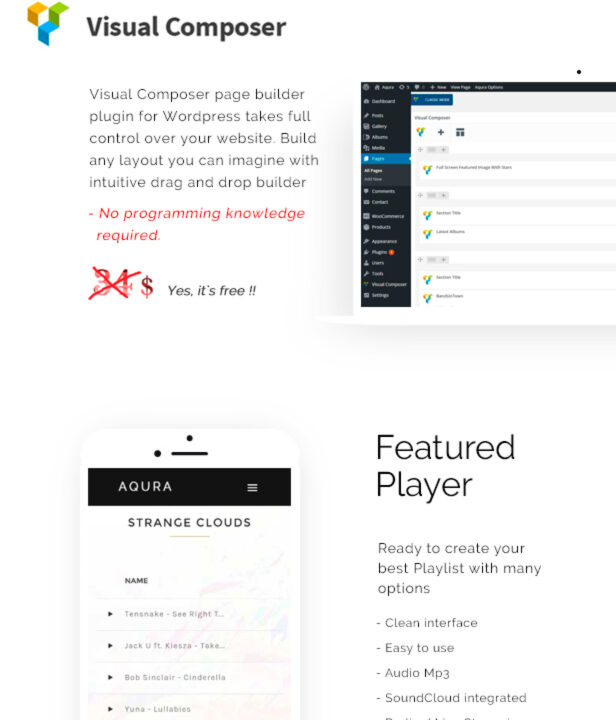 AQURA - Music WordPress Theme - 1