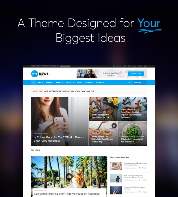 Bitz - News & Publishing Theme - 1