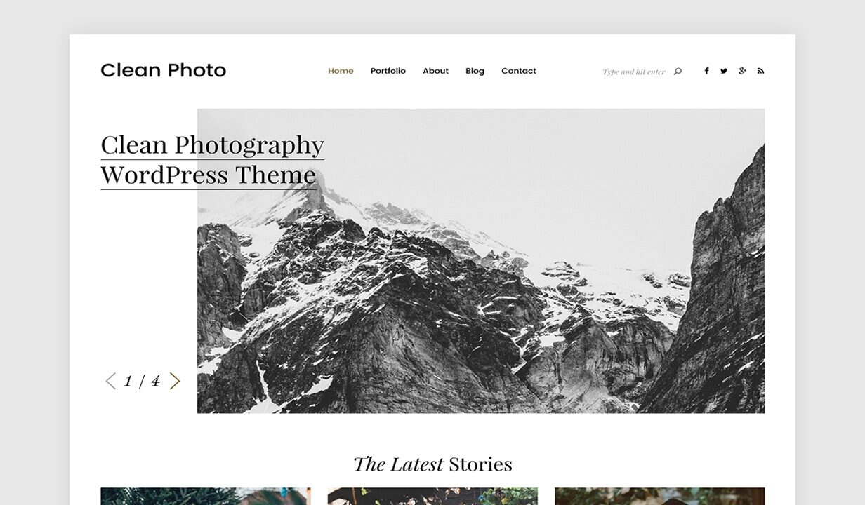 Clean Photo - Photography Portfolio WordPress Theme - 1