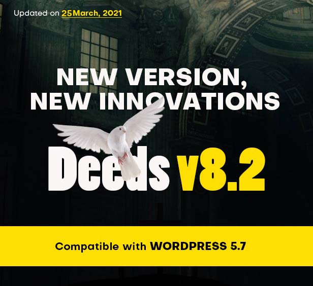 Deeds - Best Responsive Nonprofit Church WordPress Theme - 1