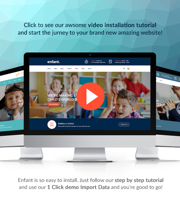 Enfant - School and Kindergarten WordPress Theme - 1