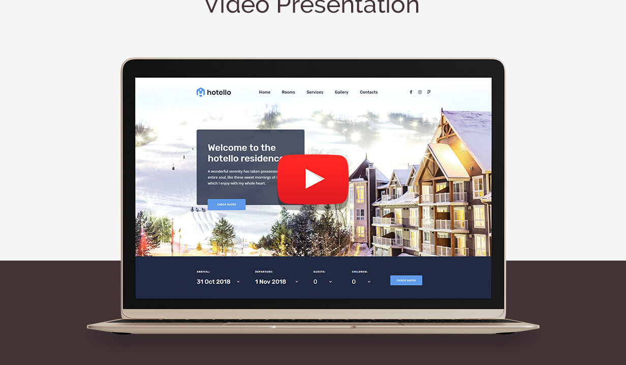 Hotel booking Wordpress Theme