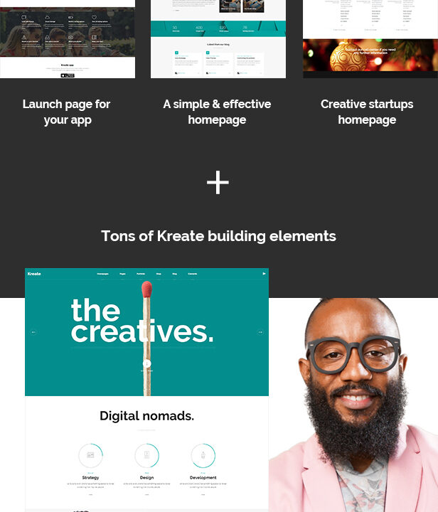 Kreate - Modern Creative Agency Theme - 1