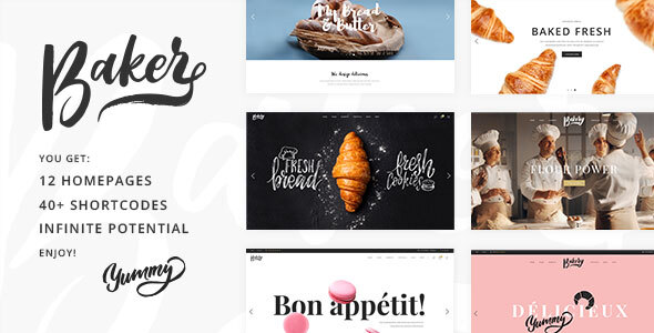 Baker - Fresh Bakery, Pastry and Cake Shop Theme