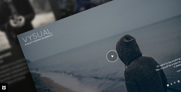 VYSUAL - Responsive Film Campaign WP Theme