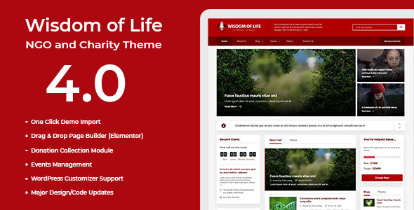 Wisdom Of Life: NGO and Charity Theme