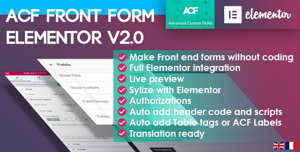 ACF Front Form for Elementor Page Builder