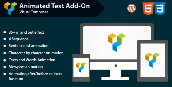 Animated Text Add-on for WPBakery Page Builder (formerly Visual Composer)