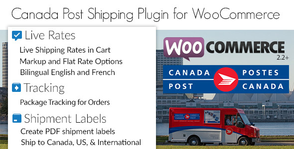 Canada Post WooCommerce Shipping Plugin for Rates, Labels and Tracking
