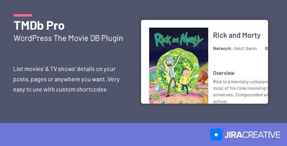 TMDb Pro - Movie & TV Show Details Plugin for The Movie Database
