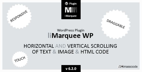 liMarqueeWP - horizontal and vertical scrolling of text and image and html code